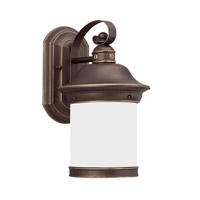 Sea Gull 89181-71 Hermitage 1 Light 14 inch Antique Bronze Outdoor Wall Lantern