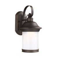 Sea Gull Lighting Hermitage LED Outdoor Wall Lantern in Antique Bronze with Frosted Glass 8918191DS-71