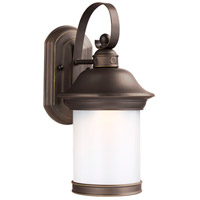 Sea Gull Lighting Hermitage LED Outdoor Wall Lantern in Antique Bronze with Antique Bronze Glass 8918191S-71