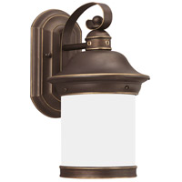 Hermitage 1 Light 14 inch Antique Bronze Outdoor Wall Lantern in No Photocell, Energy Efficient