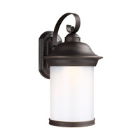 Sea Gull Lighting Hermitage LED Outdoor Wall Lantern in Antique Bronze with Frosted Glass 8919391DS-71