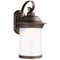 Sea Gull Lighting Hermitage LED Outdoor Wall Lantern in Antique Bronze with Frosted Glass 8919391S-71