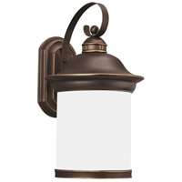Sea Gull 89193BLE-71 Hermitage 1 Light 20 inch Antique Bronze Outdoor Wall Lantern in No Photocell, Energy Efficient photo thumbnail