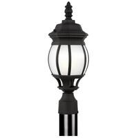 Sea Gull 89202-12 Wynfield 1 Light 19 inch Black Outdoor Post Lantern
