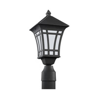 Sea Gull 89231-12 Herrington 1 Light 17 inch Black Outdoor Post Lantern