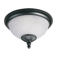 Yorktowne 2 Light 13 inch Black Outdoor Flush Mount