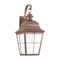 Sea Gull 89273BLE-44 Chatham 1 Light 21 inch Weathered Copper Outdoor Wall Lantern in No Photocell, Energy Efficient photo thumbnail