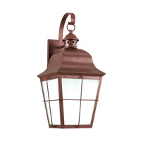 Chatham 1 Light 21 inch Weathered Copper Outdoor Wall Lantern