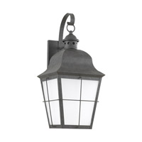 Sea Gull 89273EN3-46 Chatham 1 Light 21 inch Weathered Copper Outdoor Wall Lantern
