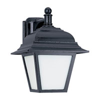 Sea Gull Lighting Bancroft 1 Light Outdoor Wall Lantern in Black 89316BLE-12
