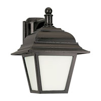 Sea Gull 89316PBLE-12 Bancroft 1 Light 13 inch Black Outdoor Wall Lantern in Photocell photo thumbnail