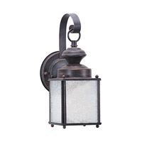 Jamestowne 1 Light 11 inch Textured Rust Patina Outdoor Wall Lantern
