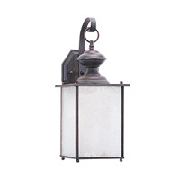 Jamestowne 1 Light 17 inch Textured Rust Patina Outdoor Wall Lantern