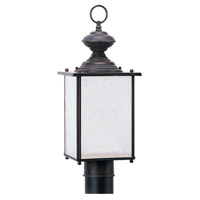 Jamestowne 1 Light 17 inch Textured Rust Patina Outdoor Post Lantern in No Photocell