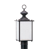 Jamestowne 1 Light 17 inch Textured Rust Patina Outdoor Post Lantern