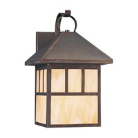 Sea Gull 89417BLE-71 Prairie Statement 1 Light 17 inch Antique Bronze Outdoor Wall Lantern in Satin Etched Glass, No Photocell, Energy Efficient photo thumbnail