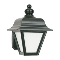 Sea Gull Lighting Bancroft 1 Light Outdoor Wall Lantern in Black 8972PBLE-12