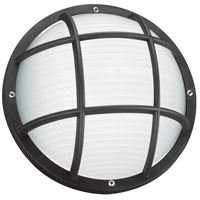 Sea Gull Lighting Bayside 1 Light Outdoor Wall Lantern in Black 89807BLE-12