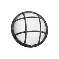 Sea Gull 89807EN3-12 Bayside 1 Light 5 inch Black Outdoor Wall Ceiling Flush Mount