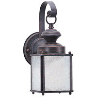 Sea Gull 8980BLE-08 Jamestowne 1 Light 11 inch Textured Rust Patina Outdoor Wall Lantern in No Photocell, Energy Efficient photo thumbnail
