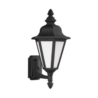 Sea Gull 89824EN3-12 Brentwood 1 Light 20 inch Black Outdoor Wall Lantern