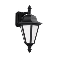 Sea Gull 89825-12 Brentwood 1 Light 18 inch Black Outdoor Wall Lantern
