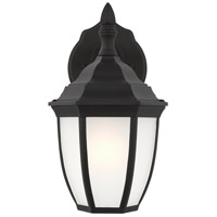 Sea Gull 89936-12 Bakersville 1 Light 11 inch Black Outdoor Wall Lantern