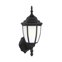 Sea Gull 89940-12 Bakersville 1 Light 16 inch Black Outdoor Wall Lantern