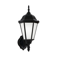 Sea Gull 89941EN3-12 Bakersville 1 Light 17 inch Black Outdoor Wall Lantern