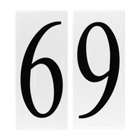 Sea Gull 90616-68 Address Light White Plastic Address Tile in 6