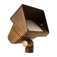 Sea Gull Lighting Meridian 1 + 1 Light Landscape Spot Light in Weathered Brass 91025-147