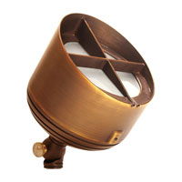Sea Gull Lighting Meridian 1 Light Landscape Spot Light in Weathered Brass 91027-147