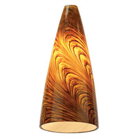 Sea Gull Lighting Ambiance Transitions Caramel Swirl Pendant Glass in Caramel Swirl 94229-6028