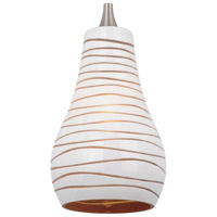 Ambiance Transitions Cased White/Amber w/Engraved Pattern Pendant Glass/Shade