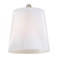 Sea Gull Lighting Ambiance Transitions Andorra Pendant Glass in Cased Opal Ribbed 94377-6125