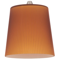 Sea Gull Lighting Ambiance Transitions Andorra Amber Pendant Glass in Cased Amber Ribbed 94377-6131
