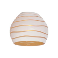 Sea Gull Lighting Ambiance Transitions Bianca Directional Glass in Cased White/Amber w/Engraved Pattern 94392-6135