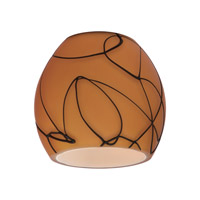 Sea Gull Lighting Ambiance Transitions Ambiance Glass/Shade in Fossil Pattern Cased 94398-6137