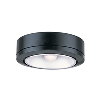 Sea Gull Lighting Ambiance 1 Light Accent Disk Light in Black 9485-12