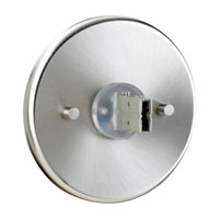 Sea Gull Lighting RTx Direct End Power Feed Canopy in Brushed Stainless 95313-98 photo thumbnail