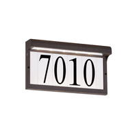 Address Light 120V 2 watt Antique Bronze Address Light in LED