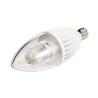 Sea Gull 4.5w 120V Clear B10 Candelabra Base LED 2700K LED Light Bulb 97340S