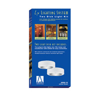 Sea Gull Lighting Ambiance 2 Light Accent Disk Light in White 9888-15