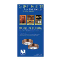 Sea Gull Lighting Ambiance 2 Light Xenon Disk Kit in Cinnamon 9888-742