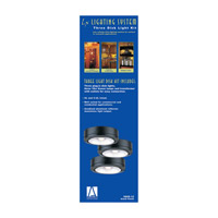 Sea Gull Lighting Ambiance 3 Light Accent Disk Light in Black 9889-12