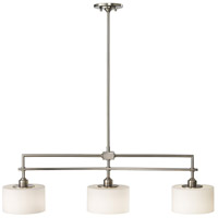 Sea Gull F2402EN3/3BS Sunset Drive 3 Light 40 inch Brushed Steel Island Chandelier Ceiling Light photo thumbnail