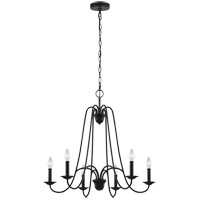 Sea Gull F3205EN/6AF Boughton 6 Light 28 inch Antique Forged Iron Chandelier Ceiling Light