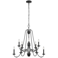 Sea Gull F3206/10AF Boughton 31 inch Antique Forged Iron Chandelier Ceiling Light