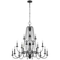Sea Gull F3207EN/18AF Boughton 18 Light 46 inch Antique Forged Iron Chandelier Ceiling Light
