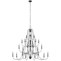 Sea Gull F3208/24AF Boughton 64 inch Antique Forged Iron Chandelier Ceiling Light